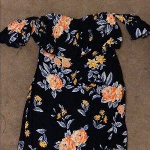 Charlotte Russe open shoulder dress